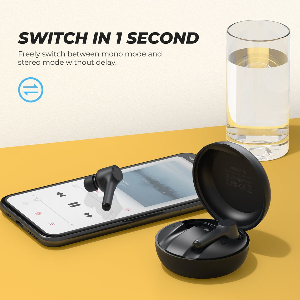 [Mã ELMALL300K giảm 5% đơn 500K] Tai nghe True Wireless Earbuds SoundPEATS Mac IPX7 Bluetooth 5.0 - Hàng chính hãng