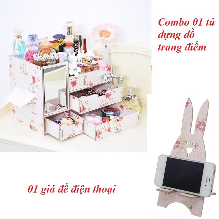 Combo 01 tủ đựng đồ trang điểm 01 giá để điện thoại - 2722767 , 303092021 , 322_303092021 , 450000 , Combo-01-tu-dung-do-trang-diem-01-gia-de-dien-thoai-322_303092021 , shopee.vn , Combo 01 tủ đựng đồ trang điểm 01 giá để điện thoại