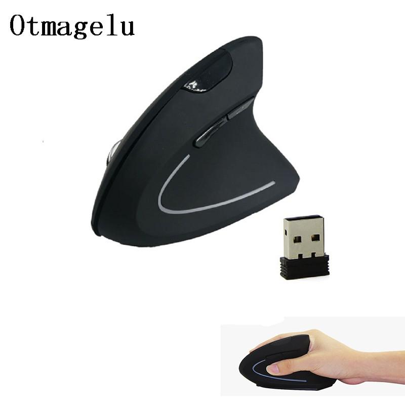 เมาส์ไร้สาย USB แนวตั้งที่คิดค่าใช้จ่าย 2.4G 800/1200 / 1600DPI