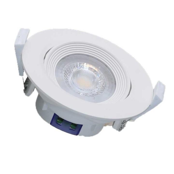 Đèn LED âm trần xoay góc 6,5W Rạng Đông khoét lỗ 76mm