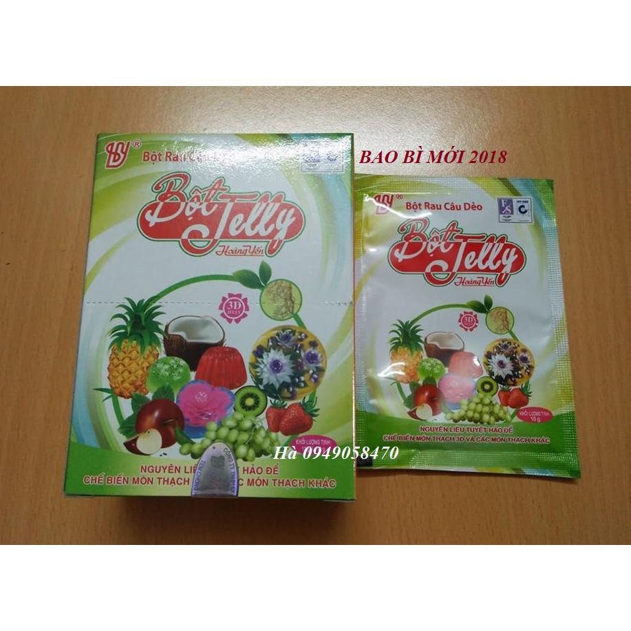 Combo 12 gói Bột rau câu dẻo jelly Hoàng Yến- hải phòng (  hộp 12 gói/ hộp )[DATE6/2021]