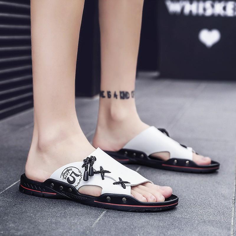 2019 dép mới cho nam xu hướng phiên bản Hàn Quốc của giày đi biển ngoài trời từ nam kéo dép nam cá tính dép nam triều