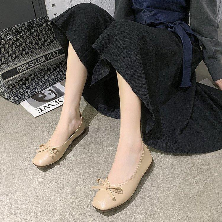 Giày Búp Bê Đính Nơ Xinh Xắn Dành Cho Nữ