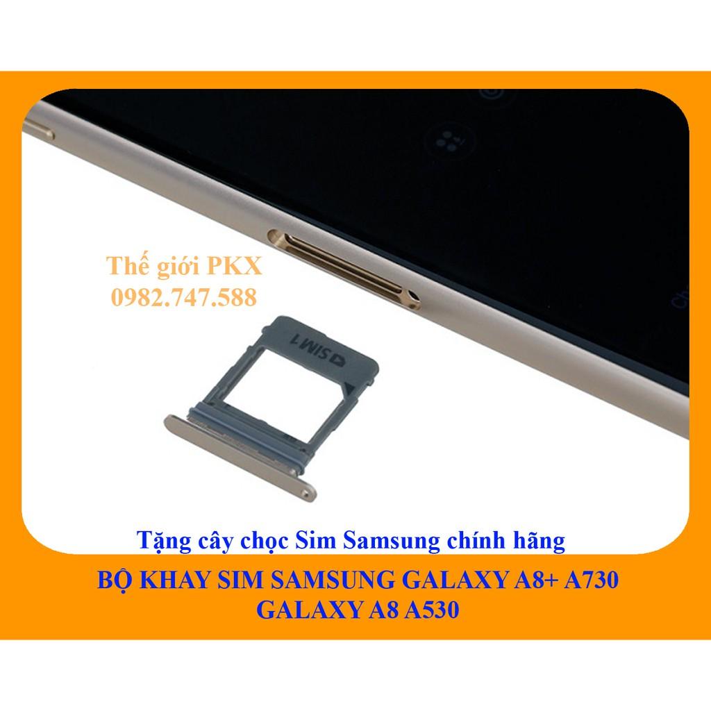 Bộ khay sim Samsung Galaxy A8+ | A8 2018 chính hãng A730 A530