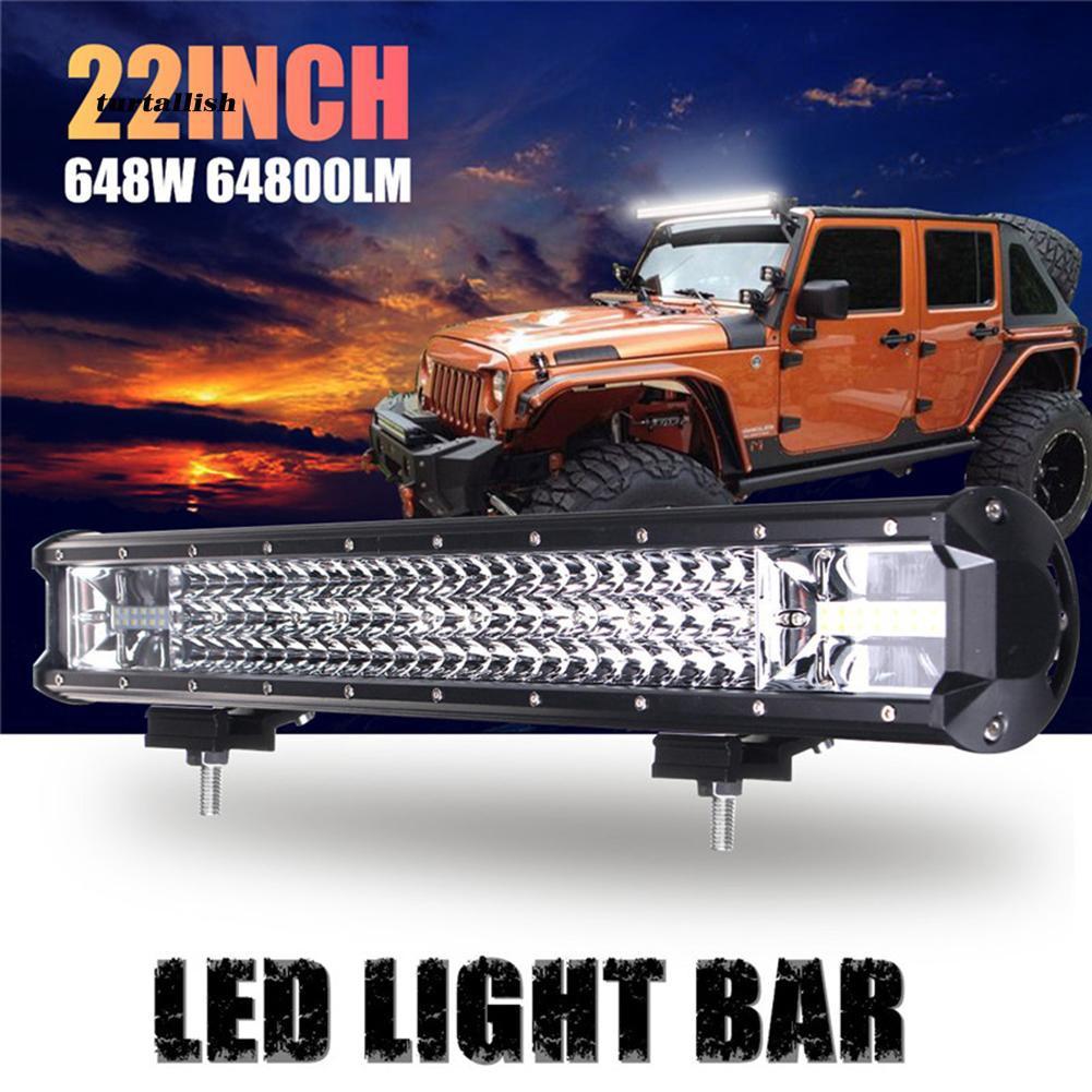 TUR♥22 Inch 648W Car Truck Off-Road 108-LED Work Light Bar Spot Flood Driving Lamp