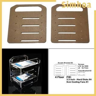 [SIMHOA] DIY 3.5inch Hard Drive Bracket Hard Disk Shelf for HDD SSD Solid State Drive