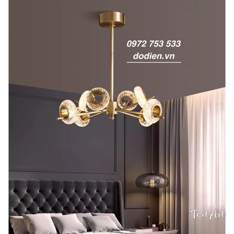 Đèn chùm pha lê 8 bóng-đèn decor hiện đại phòng khách,bàn ăn,phòng ngủ