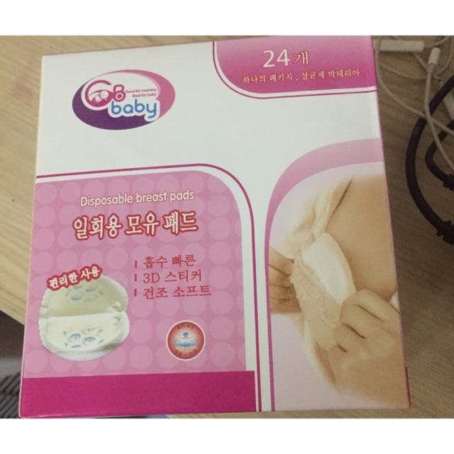 [Free ship 99k giao tại HN + HCM]Miếng lót thấm sữa GB baby hộp 24 miếng
