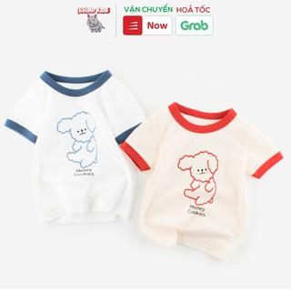 Áo thun cho bé gái 27Home tay ghép chú chó siêu dễ thương chất liệu cotton an toàn cho bé hàng chuẩn xuất Âu Mỹ thumbnail
