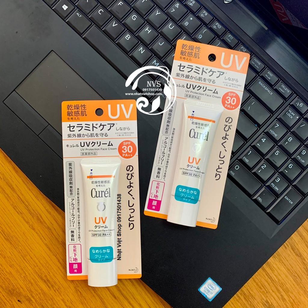 Kem Chống Nắng Curel UV Protection Face Cream SPF 30 PA++ 30g | Shopee Việt  Nam