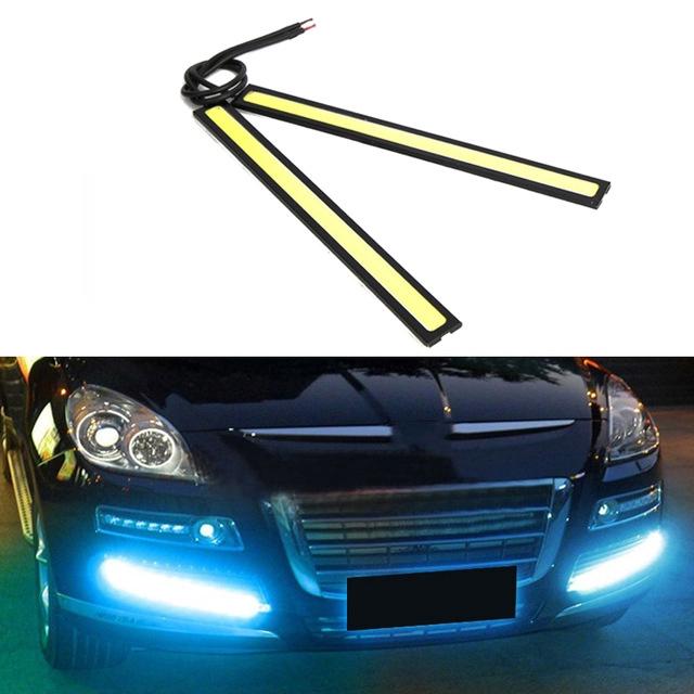 1 đèn LED ban ngày chống sương mù chip COB DRL cho xe hơi