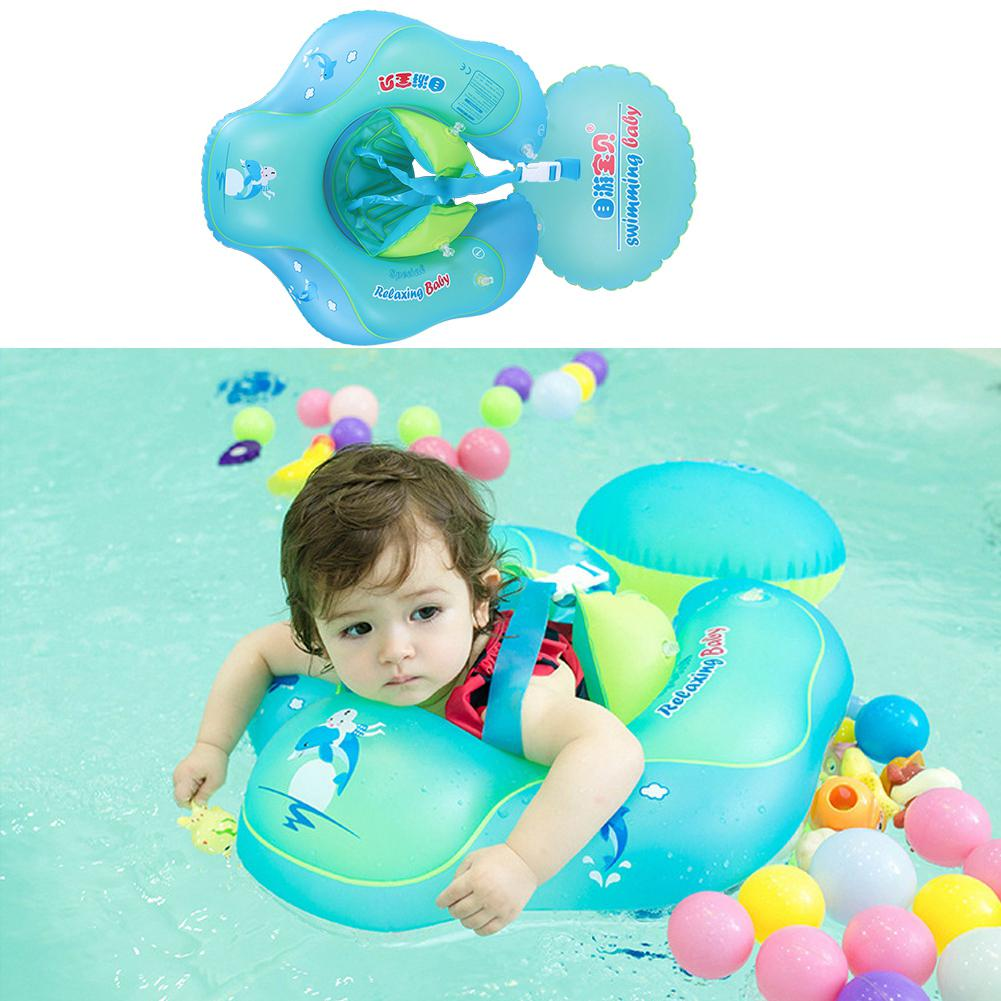 Inflatable Children Kid Blow Up Waist Swim Ring Trainer Bath