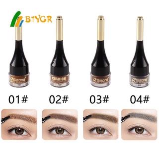 Professional 4 Colors Air Cushion Eyebrow Cream Brow Makeup Eyebrow Gel With Brush BTYGR