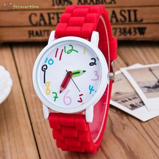 ☞ Phụ kiện trang sức☜ Silicone Watches Children Pencil Pointer Student Watch Quartz Wristwatches Gift Watches