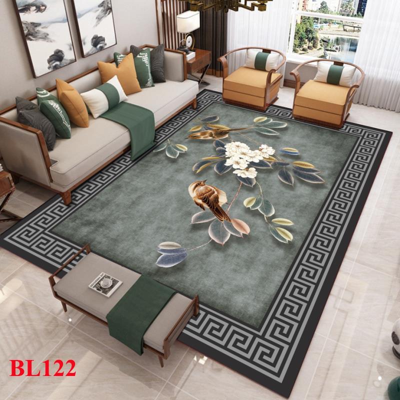 Thảm trang trí phòng ngủ - Thảm trải sàn phòng khách chất liệu nỉ nhung lì in 3D cao cấp