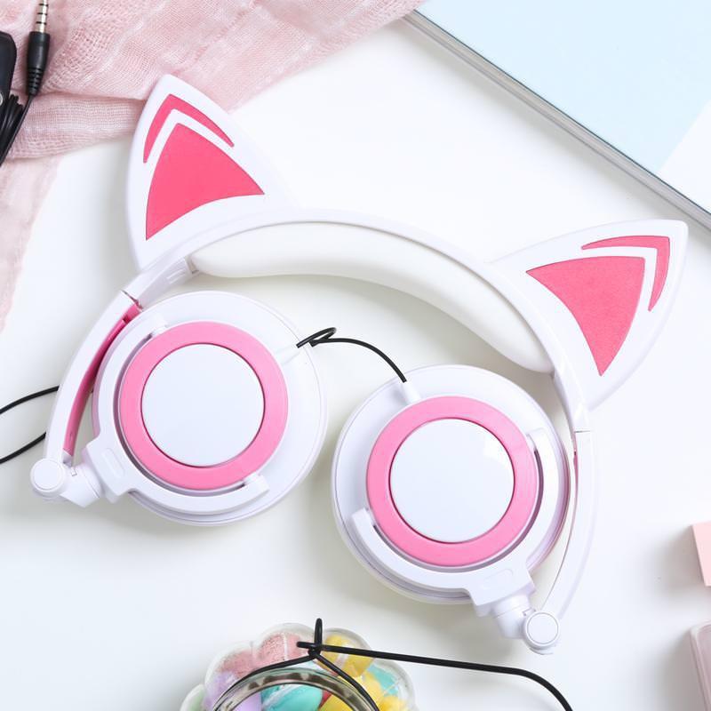 Tai nghe chụp tai có led TTLIFE Xinh Xắn - Có Đèn Led Siêu Cute