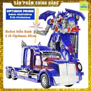 (Siêu to) Robot biến hình ôtô Transformer cao 45cm mẫu Optimus Prime 6699-12D FREESHIP - đồ chơi trí tuệ cho bé thumbnail