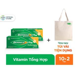 """[Mã FMCGBA giảm 8% đơn 199k] Bộ 2 hộp viên sủi bổ sung Vitamin Berocca Performance Mango 10 Viên/hộp - Tặng 1 túi vải giá chỉ còn <strong class=""""price"""">14.800.000.000đ</strong>"""