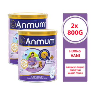 Combo 2 Sữa Bột Anmum Materna Hương Vanilla (800g lon) thumbnail