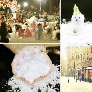 Tuyết nhân tạo 100g ảnh thật trang trí giáng sinh,ông già noel, làm slime…