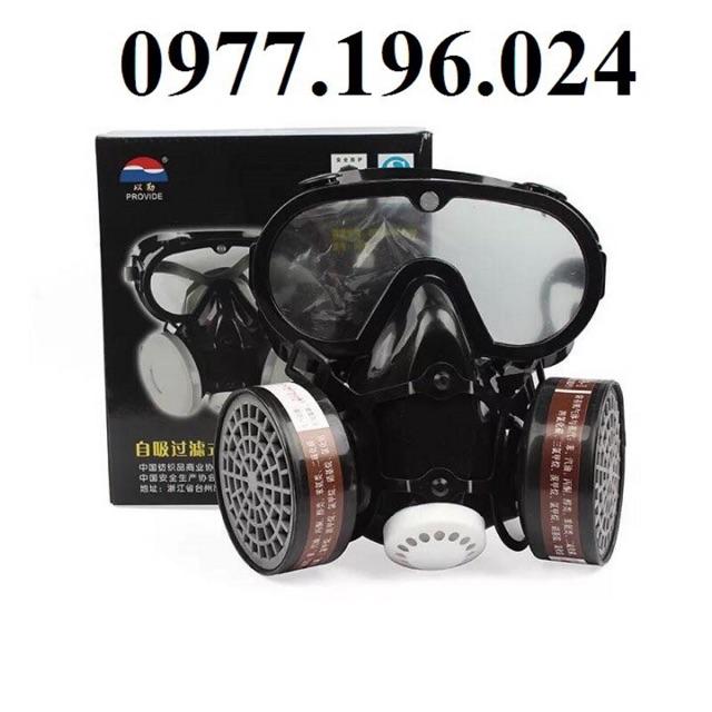 Mặt nạ phòng độc 2 phin liền kính chống hoá chất tối ưu