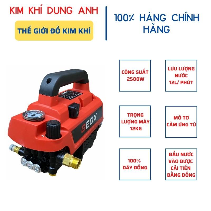 Máy rửa xe gia đình Geox GL - RS9 2500W chính hãng máy rửa xe mini - Kim Khí Dung Anh