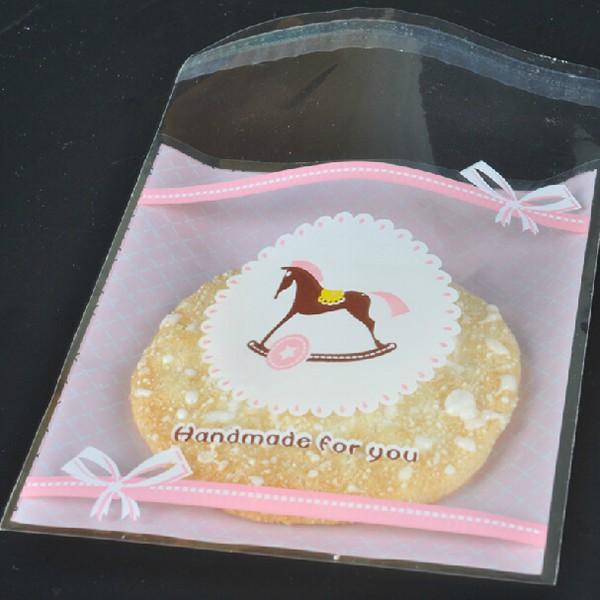 Set 100 Túi Đựng Bánh Kẹo In Hình Mèo Kitty Xinh Xắn