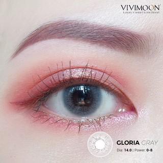 Kính áp tròng VIVIMOON Gloria Gray - lens cận xám khói 14.0 mm