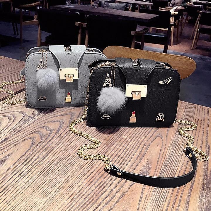 Túi xách nữ - Túi đeo chéo dây xích QC cao cấp - 3092672 , 1129175671 , 322_1129175671 , 299000 , Tui-xach-nu-Tui-deo-cheo-day-xich-QC-cao-cap-322_1129175671 , shopee.vn , Túi xách nữ - Túi đeo chéo dây xích QC cao cấp