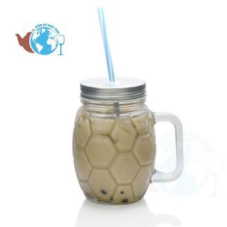 Ly Cốc Thủy Tinh Trái Banh Uống Trà Sữa 400ML