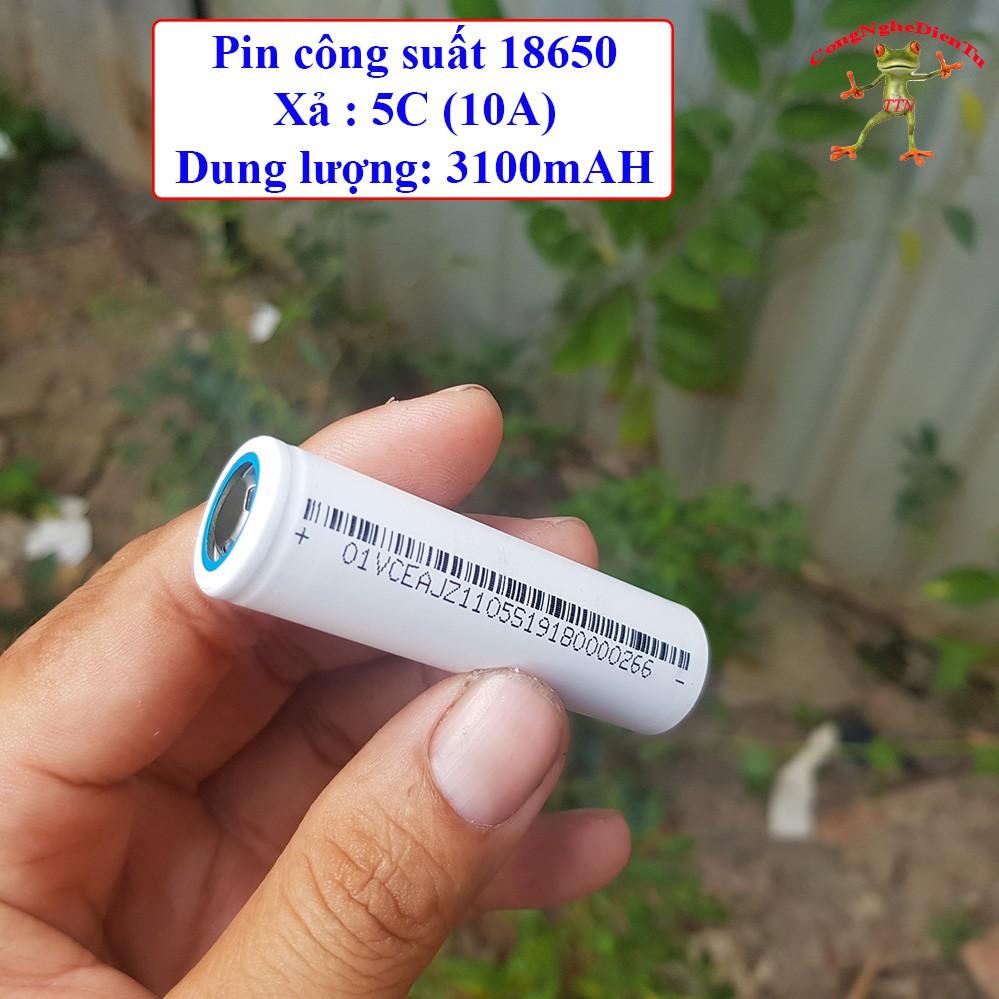 Cell pin 18650 xả 10A / 3100 mAH màu trắng