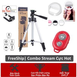 Combo Giá đỡ 3 chân máy chụp ảnh Tripod TF-3110 + Remote + Đèn Selfi Ring Livestream Cực Chất- Cho Phút Giây Toả Sáng thumbnail
