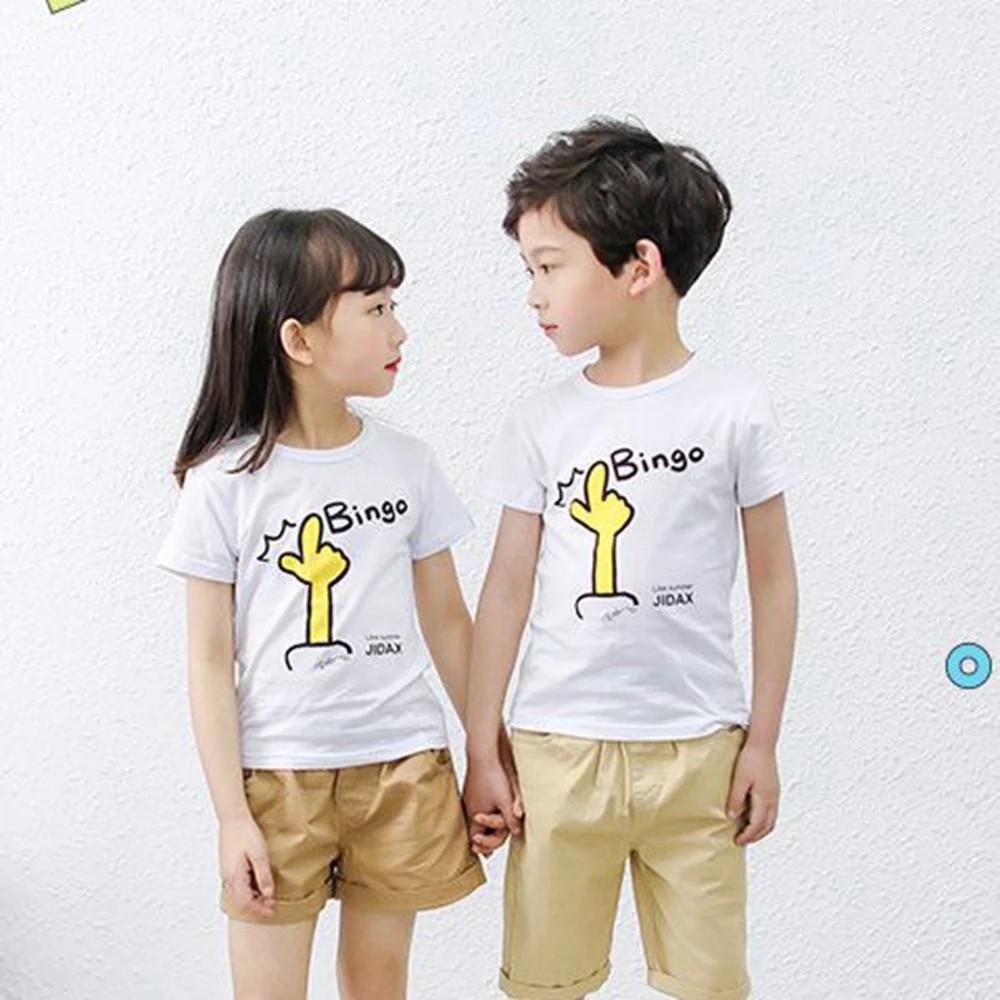 Áo thun cotton ngắn tay họa tiết Bingo mùa hè cho bé trai
