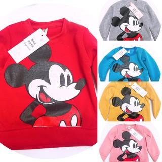 Áo nỉ Micky cho bé trai, bé gái/ Freeship/ áo dài tay thu đông cho bé