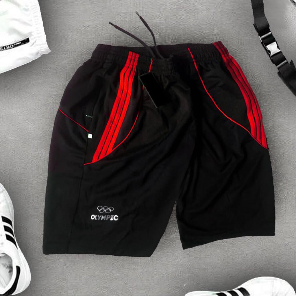Quần short nam thun co giãn (có Big Size >100kg) 4 chiều thể thao ,quần đùi nam 2 túi khóa ShopN6 -QS1(sọc ngẫu nhiên)
