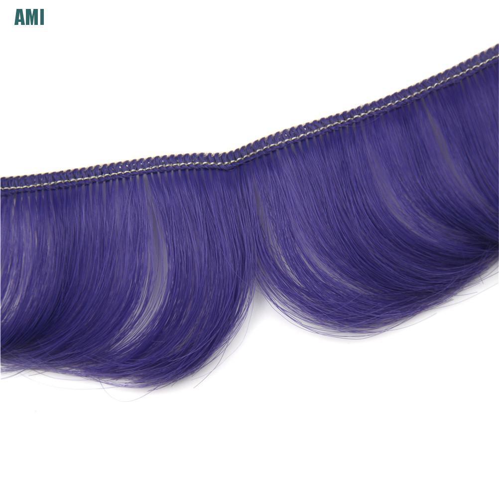 [D] 5cm fringe doll natural hair DIY wigs for BJD SD handmade doll bang doll wigs (ghg)