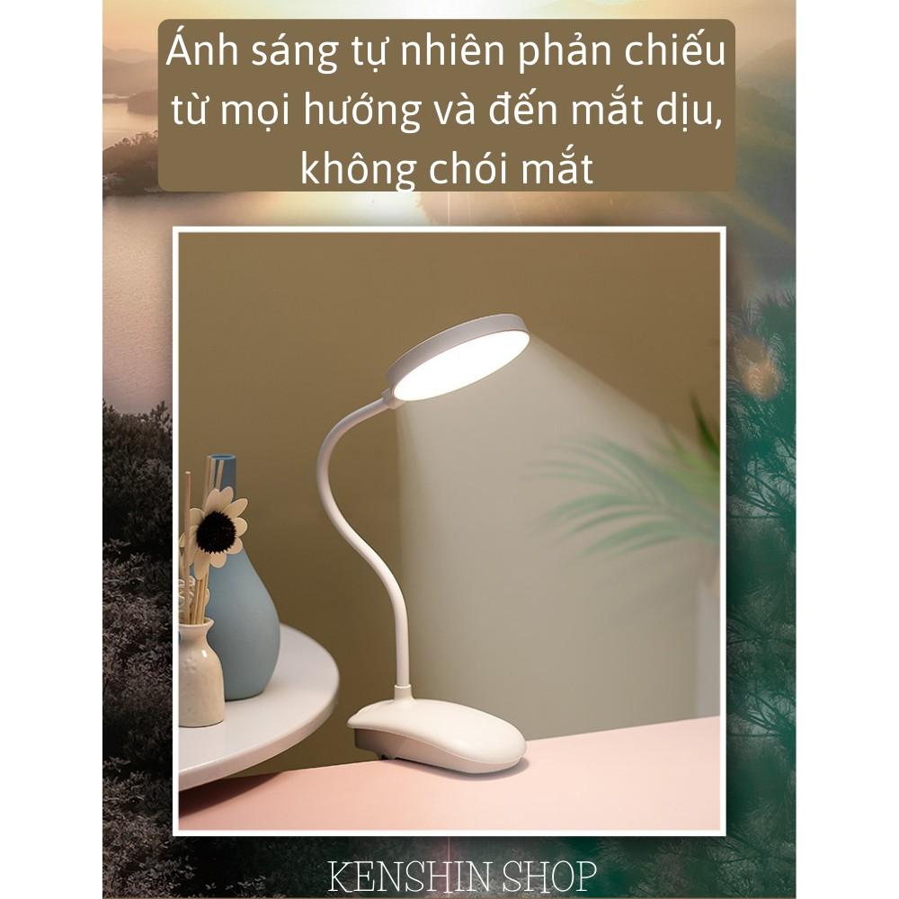 Đèn học kẹp bàn chống cận tích điện, đèn học để bàn học tập, làm việc KENSHIN SHOP