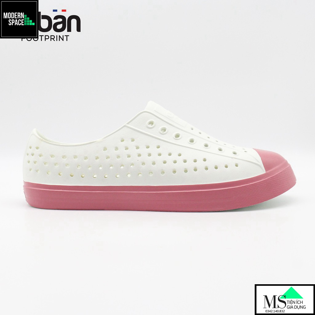 (GIÀY NỮ) Giày thông hơi Urban Footpritn EVA fylon D2001 - Trắng hồng xinh xắn (VNXK) [CHÍNH HÃNG]