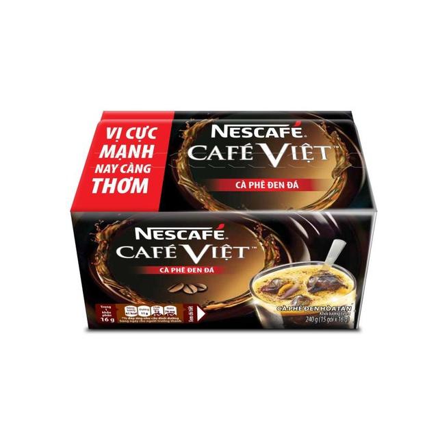 Hộp 15 gói x 16g NESCAFE Café Việt Cà phê Đen Đá