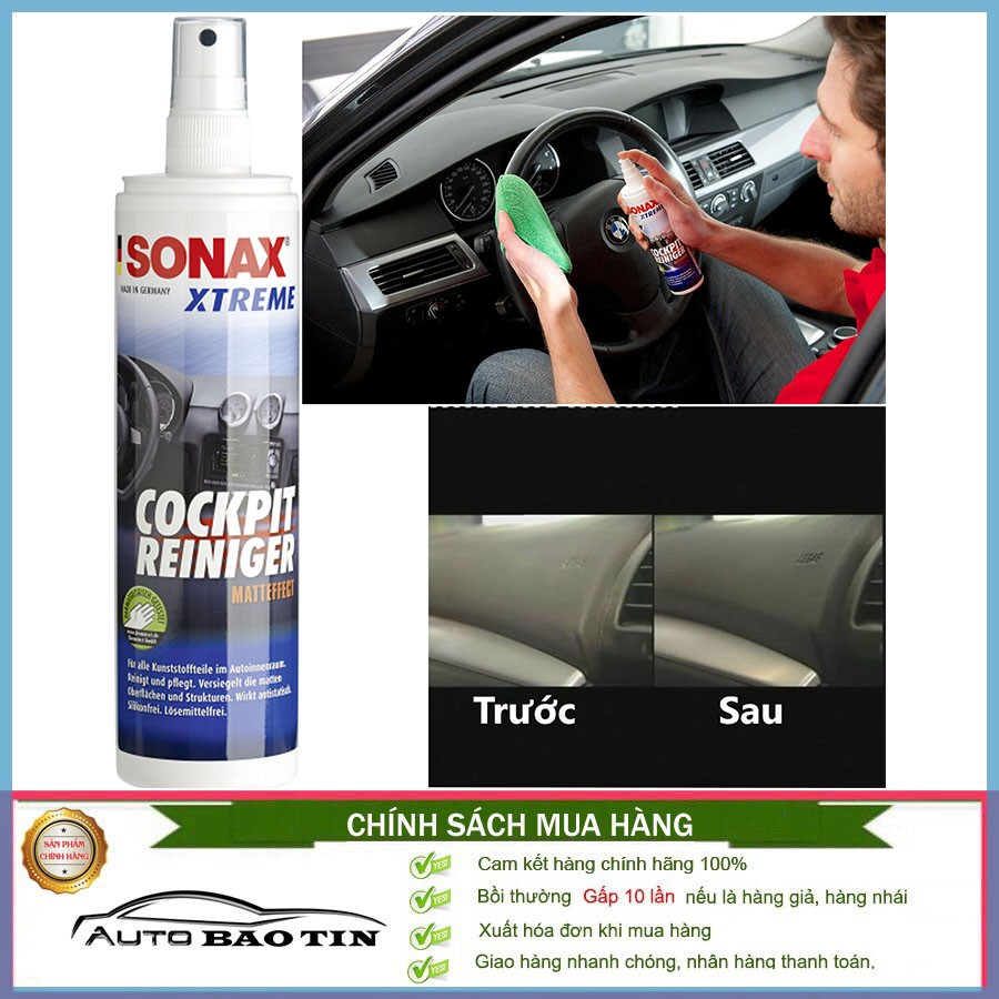 Bảo dưỡng nhựa trong xe Sonax Xtreme Cockpit cleaner 300ml