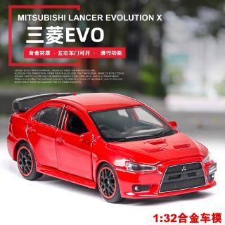 Mô Hình Xe Hơi Mitsubishi Có Đèn Và Âm Thanh Bằng Hợp Kim Tỉ Lệ 1: 32
