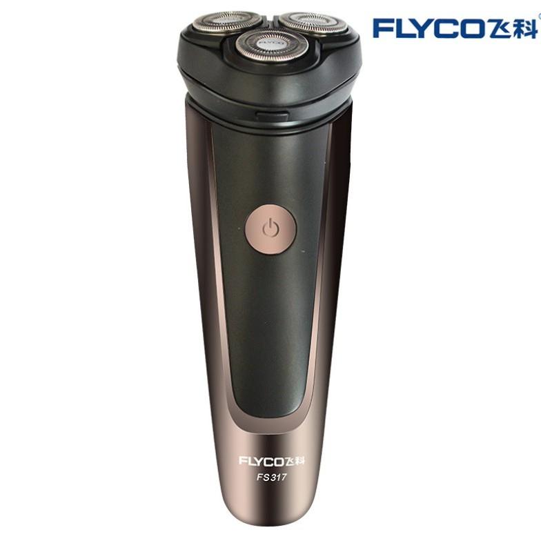 [TEM FLYCO] Máy Cạo Râu Nam FS317 Flyco 3 Lưỡi Dao Thông Minh II Bảo Hành 36 Tháng (Hỗ Trợ Tỉa Bấm Tông Đơ Cắt Tóc Mai)