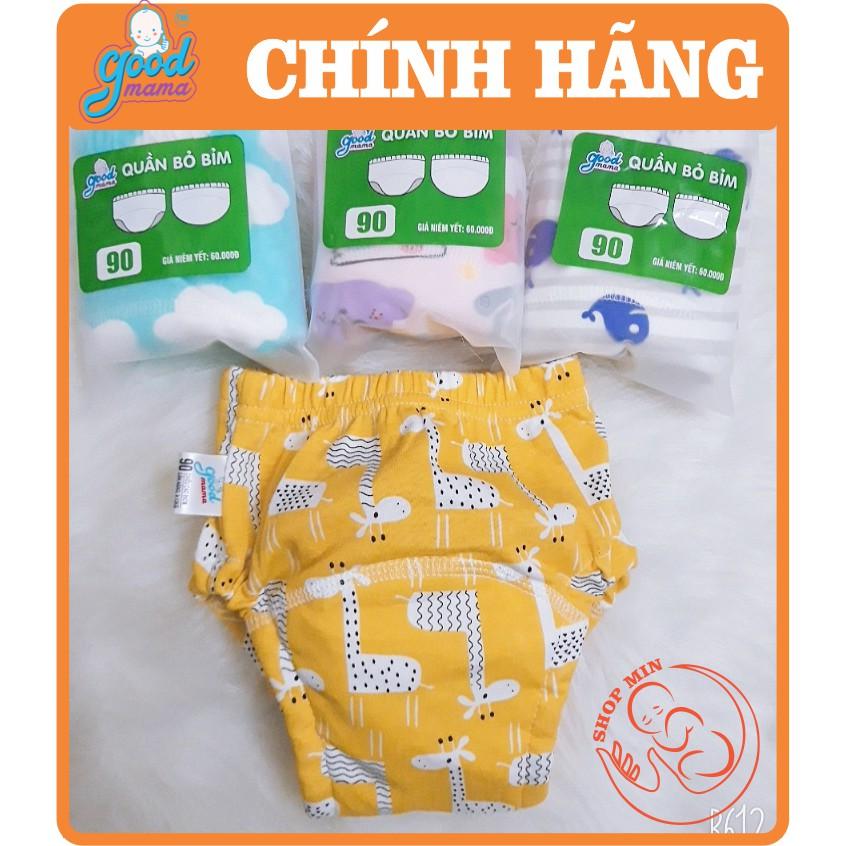 Quần bỏ bỉm Goodmama 6 lớp hàng Việt Nam cho bé từ 5-17kg Size 80/90/100/110 SL 1 cái