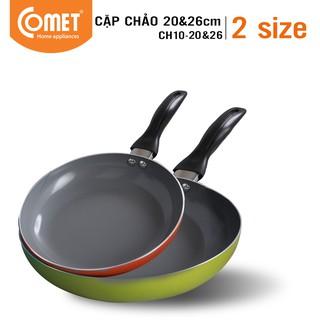 Combo chảo chống dính Ceramic COMET - CH10 - 20&26 thumbnail