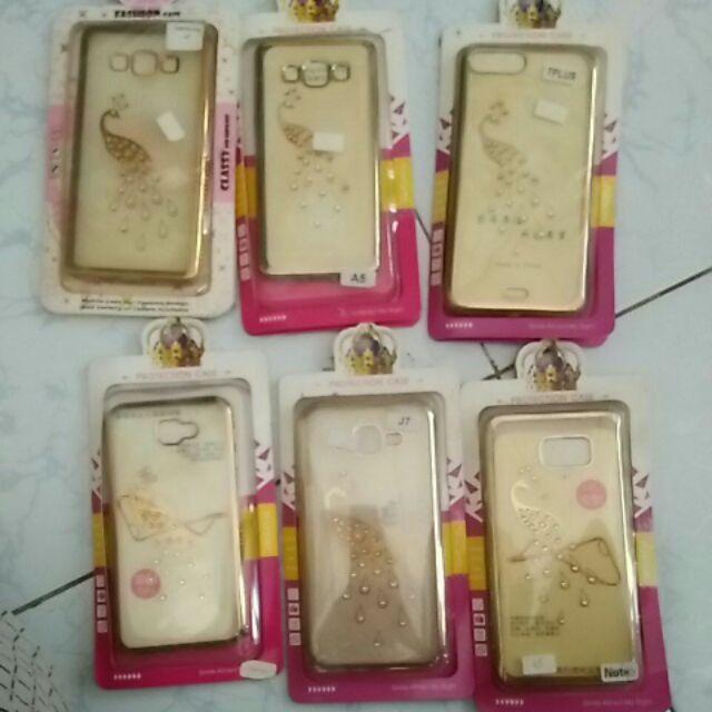 Bộ 6 Ốp lưng công đính đá viền si samsung a5,a7,j5 prime, j7, note 5, 7 plus thanh lý