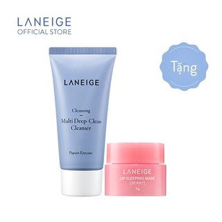 [HB GIFT] Combo sữa rửa mặt làm sạch sâu Laneige 30ml & Mặt nạ ngủ cho môi Laneige Lip Sleeping Mask 3g thumbnail