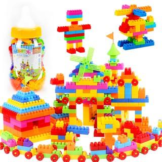 (hàng có sẵn) bộ đồ chơi xếp hình bằng nhựa cho bé