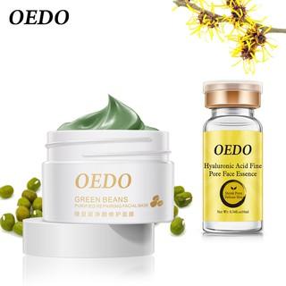 [Hàng mới về] Mặt nạ đậu xanh OEDO + serum Hyaluronic Acid dưỡng ẩm làm trắng da ngừa nếp nhăn hiệu quả