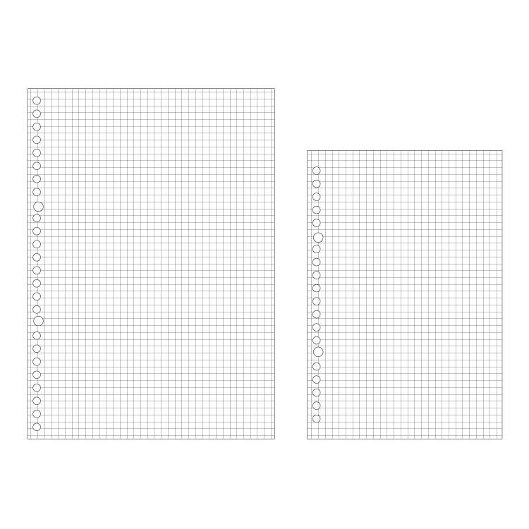 Xấp giấy refill size B5 9 lỗ/ 26 lỗ, tập giấy B5 có lỗ nhiều mẫu đa dạng để lựa chọn tại Corgi Shop