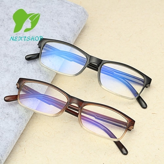NEXTSHOP Fashion Gradient Reading Glasses Ultralight Presbyopic Glasses Blue Light Blocking Vision Care Diopter +1.0~4.0 Spring Hinge Eyewear Readers/Multicolor